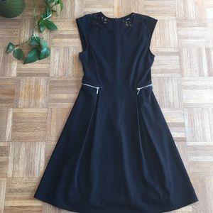NWOT Mossimo black lace & zipper dress